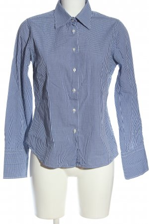 Milano Long Sleeve Shirt blue-white allover print business style