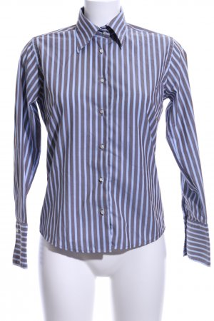 Milano Langarmhemd blau-hellgrau Streifenmuster Business-Look