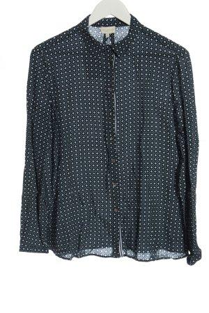 Milano Long Sleeve Shirt black-white allover print casual look