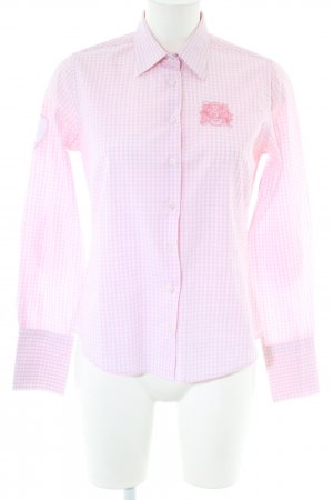 Milano Langarmhemd pink-weiß Karomuster Business-Look