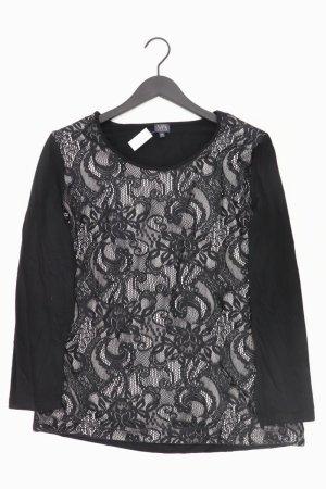 MILANO Langarmshirt Größe 44 schwarz aus Viskose