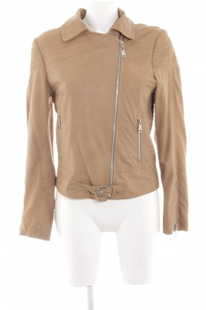 Milano Leather Jacket nude casual look