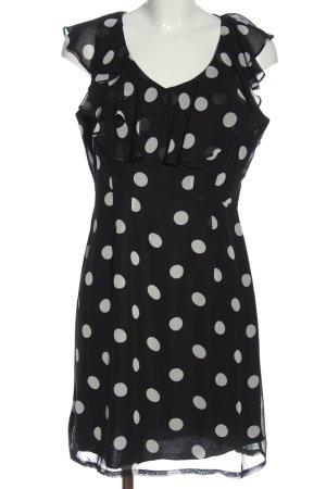 Milano Mini Dress black-white spot pattern elegant