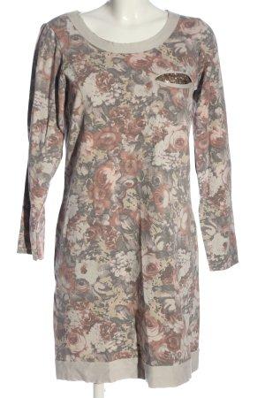 Milano Sweater Dress light grey-cream allover print casual look