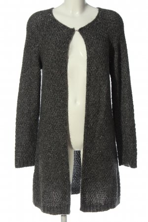 Milano Knitted Cardigan light grey weave pattern casual look