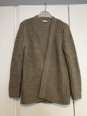 Milano Italy Coarse Knitted Jacket grey brown