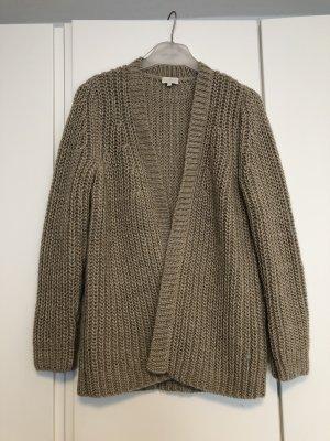 Milano Italy Cardigan a maglia grossa marrone-grigio