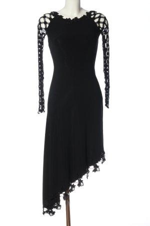 Milano Robe bas asymétrique noir élégant