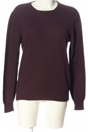 Milano Wool Sweater lilac flecked casual look