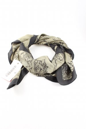 Neckerchief natural white-black abstract pattern casual look