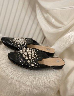Miles/slipper mit Perlen und strassteinen