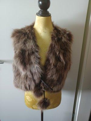Milestone Fur vest brown-beige