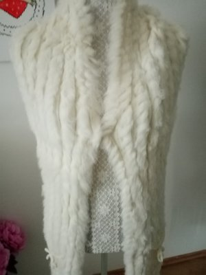 Milestone Fur vest natural white-cream