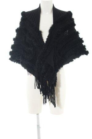 Milestone Fellweste schwarz extravaganter Stil