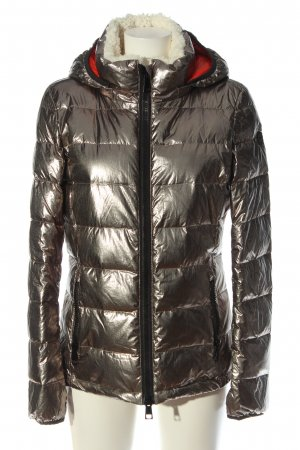 Milestone Hoody silver-colored quilting pattern casual look