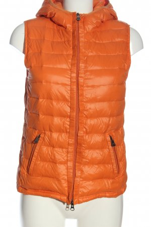Milestone Hooded Vest light orange quilting pattern casual look