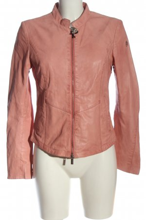 Milestone Leather Jacket pink casual look