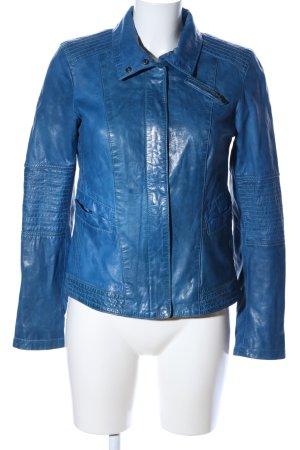 Milestone Lederjacke blau extravaganter Stil