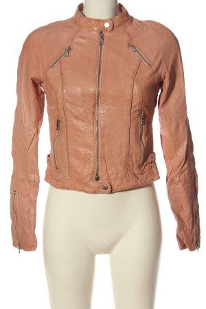 Milestone Leather Jacket nude casual look