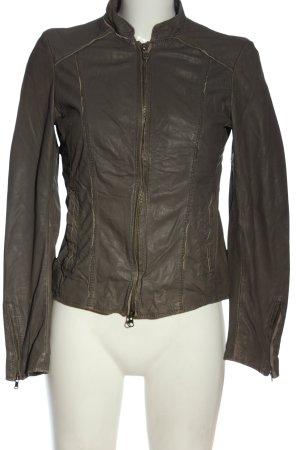 Milestone Leather Jacket brown casual look