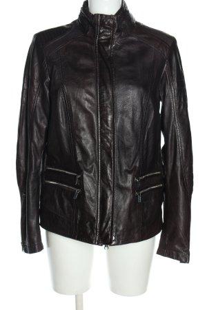 Milestone Leather Jacket black casual look