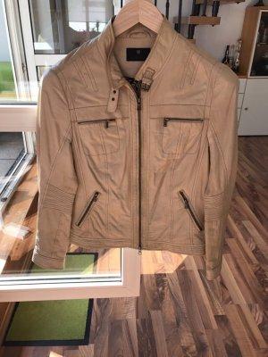 Milestone Leather Jacket cream