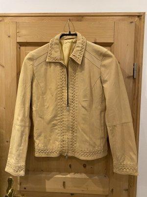 Milestone Leather Jacket beige