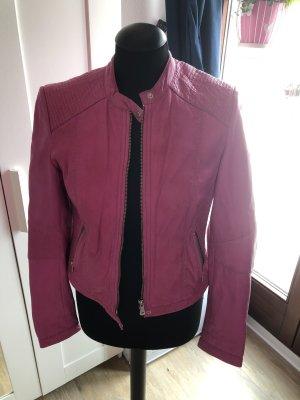 Milestone Lederjacke Pink, Gr. 38 Bikerstil