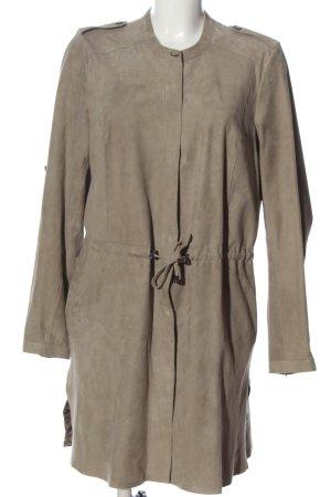 Milestone Manteau en cuir gris clair style décontracté