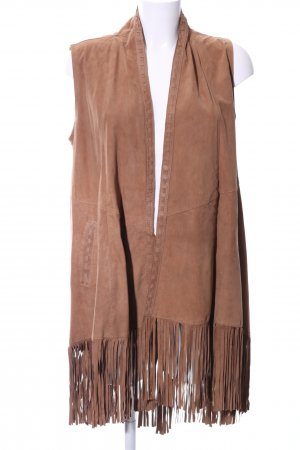 Milestone Leather Vest brown casual look