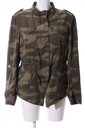 Milestone Übergangsjacke khaki-braun Camouflagemuster Casual-Look