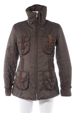 Milestone Übergangsjacke khaki-dunkelbraun Casual-Look