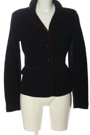 Milestone Blazer de lana negro-rojo look casual