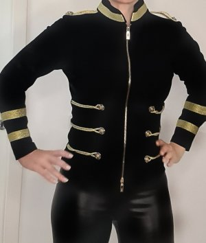 Veste chemisier noir-doré
