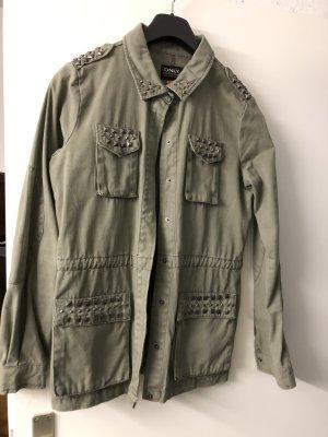 Only Pea Jacket khaki cotton