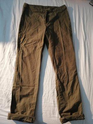 Militärgrüne Stoffhose