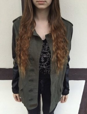 Topshop Military Jacket black-khaki