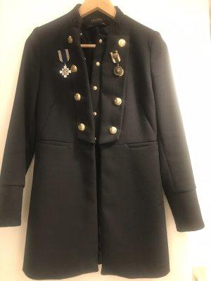 Zara Granatowa kurtka czarny