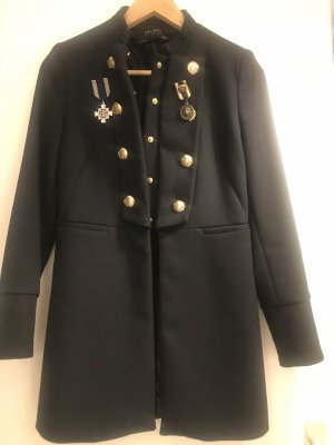Zara Chaqueta estilo naval negro