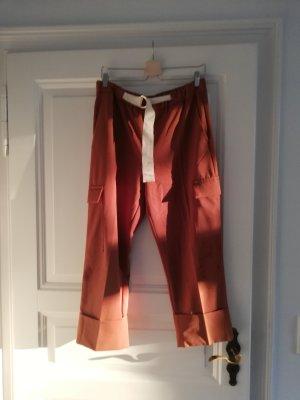 Zara Pantalón de camuflaje coñac