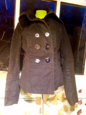 Veste militaire noir-violet coton