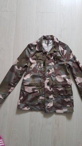 H&M Kurtka wojskowa stary róż-zielono-szary