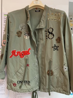 Military Jacke mit Patches