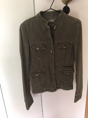 Zara Veste militaire gris vert coton