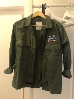 Military jacket with Asian art