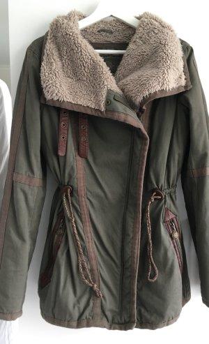 edc by Esprit Giacca in eco pelliccia cachi-verde-grigio