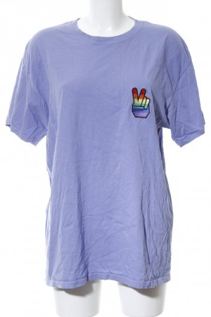 Milk.it T-Shirt blau Motivdruck Casual-Look
