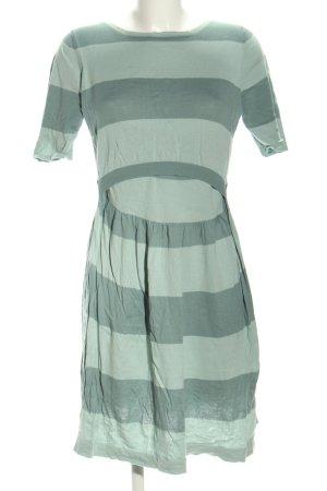 Milker Knitted Dress blue-light grey striped pattern casual look