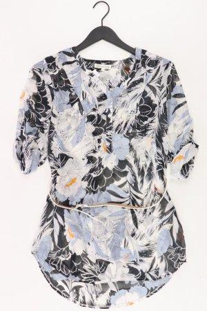 MILLENIUM Bluse mit Gürtel Größe S Kurzarm blau aus Polyester
