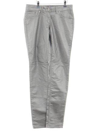 Million X Women Pantalón de cinco bolsillos color plata look casual